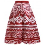 cheap Fashion Printed High Waisted Skirt For Women