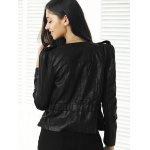Punk Style Zipper Design Waisted Jacket for sale