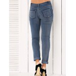 High Waisted Ripped Jeans for Women for sale