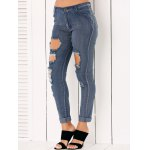 cheap High Waisted Ripped Jeans for Women