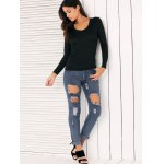 High Waisted Ripped Jeans for Women photo