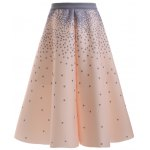Stylish Polka Dot A Line Skirt For Women