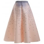 cheap Stylish Polka Dot A Line Skirt For Women
