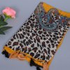 cheap Stylish Leopard Paisley Tassel Scarf