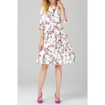 Flower Print Flare Dress deal