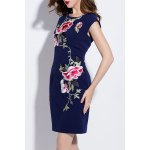 Flower Embroidered Tank Mini Dress deal