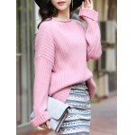 Elegant Long SLeeve Pure Color Loose-Fitted Sweater deal
