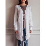 Casual Pure Color Crochet Long Sleeve Cardigan