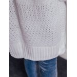 Casual Pure Color Crochet Long Sleeve Cardigan photo