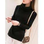 High Neck Candy Color Long Sleeve Sweater