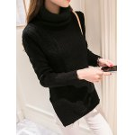 cheap High Neck Candy Color Long Sleeve Sweater