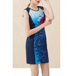 Floral Sleeveless Mini Sheath Dress