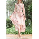 Floral Print Long Sleeve Maxi Dress for sale