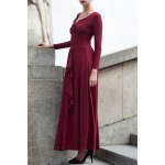 Ruffle Ruched Long Dress for sale