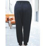 Plus Size Active Drawstring Embroidery Pants deal