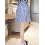 cheap Plus Size Sweet Tie-Front Striped Skirt
