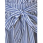 Plus Size Sweet Tie-Front Striped Skirt for sale