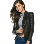 Chic Pure Color Zipped Jacket For Women for sale