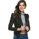 cheap Chic Pure Color Zipped Jacket For Women