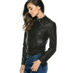 Stylish Pure Color Belted Jacket For Women deal