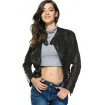 cheap Stylish Pure Color Belted Jacket For Women