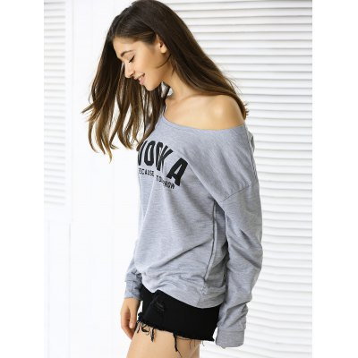 Casual Letter Loose-Fitting Sweatshirt