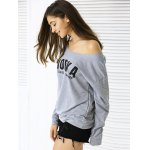 cheap Casual Letter Loose-Fitting Sweatshirt