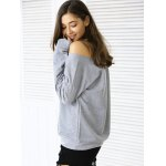 Casual Letter Loose-Fitting Sweatshirt for sale