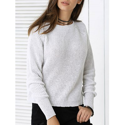 Fashionable Pure Color Sweater