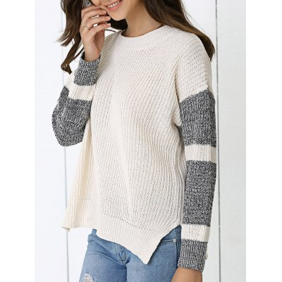 Color Block Loose-Fitting Sweater