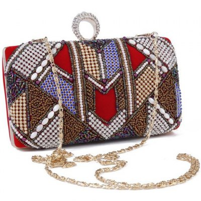 Ethnic Beading and Ring Design Evening Bag For WomenWomens Bags<br>Ethnic Beading and Ring Design Evening Bag For Women<br><br>Handbag Type: Evening Bag<br>Style: Fashion<br>Gender: For Women<br>Embellishment: Beading<br>Pattern Type: Patchwork<br>Handbag Size: Small(20-30cm)<br>Closure Type: Hasp<br>Occasion: Versatile<br>Main Material: Sequined Cloth<br>Weight: 0.454kg<br>Size(CM)(L*W*H): 18*4*14<br>Package Contents: 1 x Evening Bag