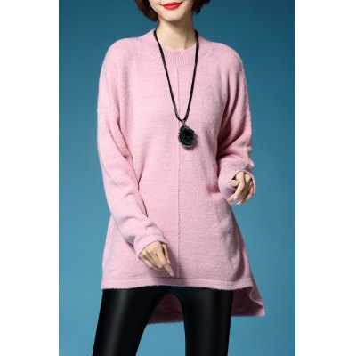 High Low Long Sleeve Pullover Sweater
