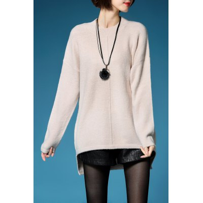 Long Sleeve High Low Pullover Sweater