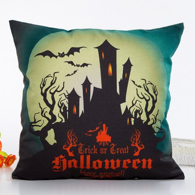 House Light Halloween Design Linon Pillow Case