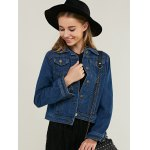 cheap Fashionable Pocket Design Denim Jacket For Women