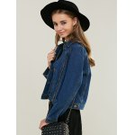 Fashionable Pocket Design Denim Jacket For Women deal