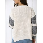 Color Block Loose-Fitting Sweater deal