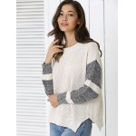 cheap Color Block Loose-Fitting Sweater
