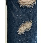 Stylish Ripped Painting Jeans for sale