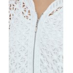 best Hollow Out Zipper Design Cardigan