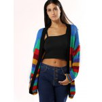 cheap Colorized Striped Loose Cardigan For Women