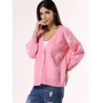 Sweet Star Ribbed Hem Cardigan For Women deal