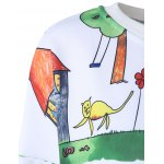 Casual Cartoon Painting Print Pullover Sweatshirt For Women deal