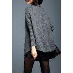 cheap Turtleneck Batwing Sleeve Pullover Sweater