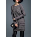 Pockets Long Sleeve Pullover Sweater