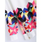 Long Sleeve Colorful Geometrical Sweatshirt photo