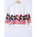 cheap Long Sleeve Colorful Geometrical Sweatshirt