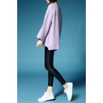 Scoop Neck Flare Sleeve Pullover Sweater deal