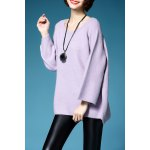 Scoop Neck Flare Sleeve Pullover Sweater