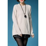 High Low Long Sleeve Pullover Sweater deal